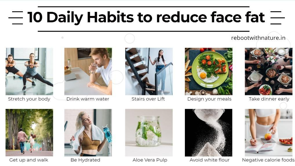 10 Daily Habits to reduce face fat-compressed