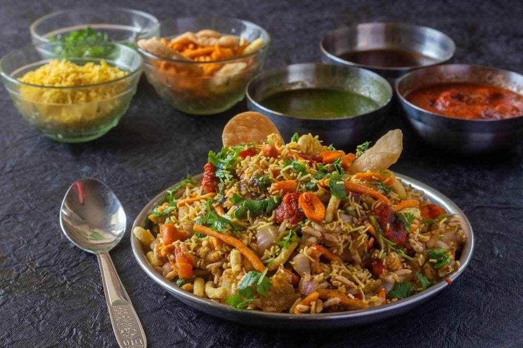 Healthy Indian Snacks bhel puri
