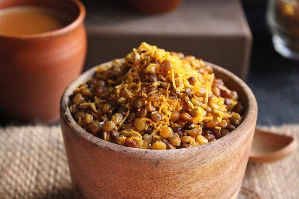 Healthy Indian Snacks dal moth-compressed
