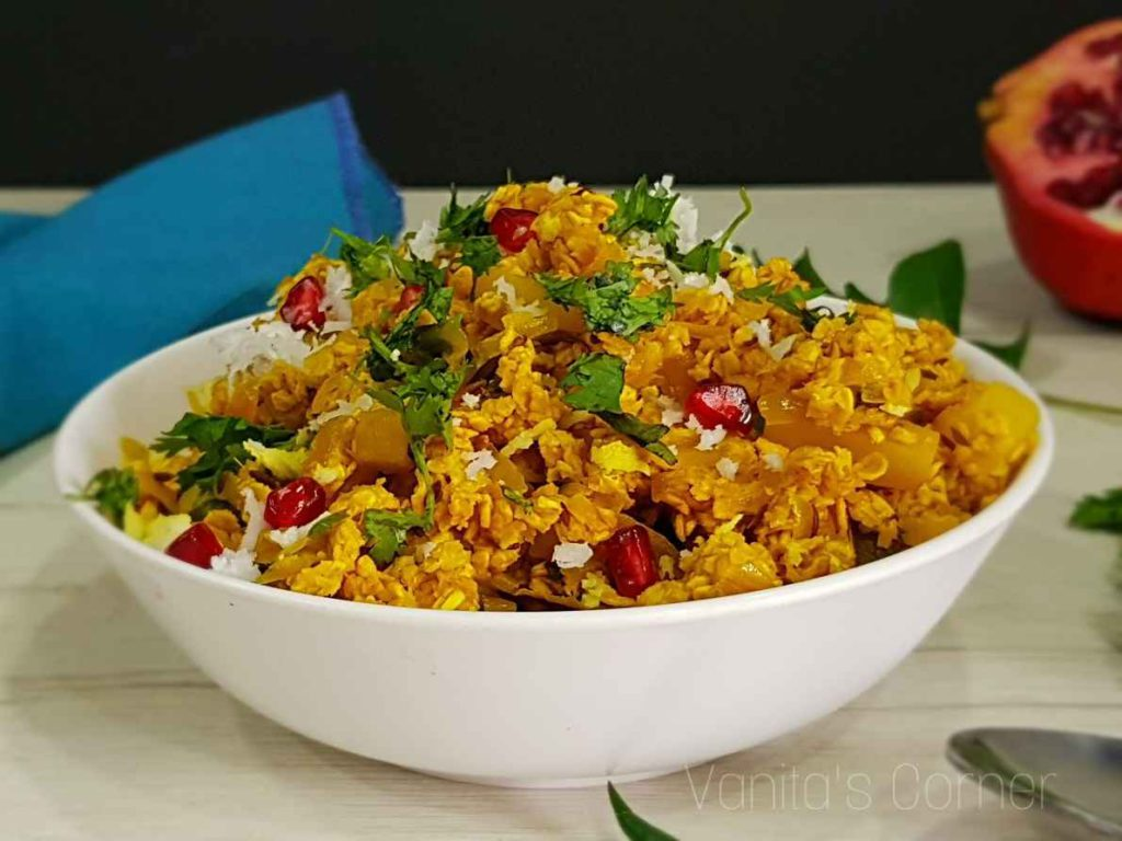 Healthy Indian Snacks oats poha-compressed