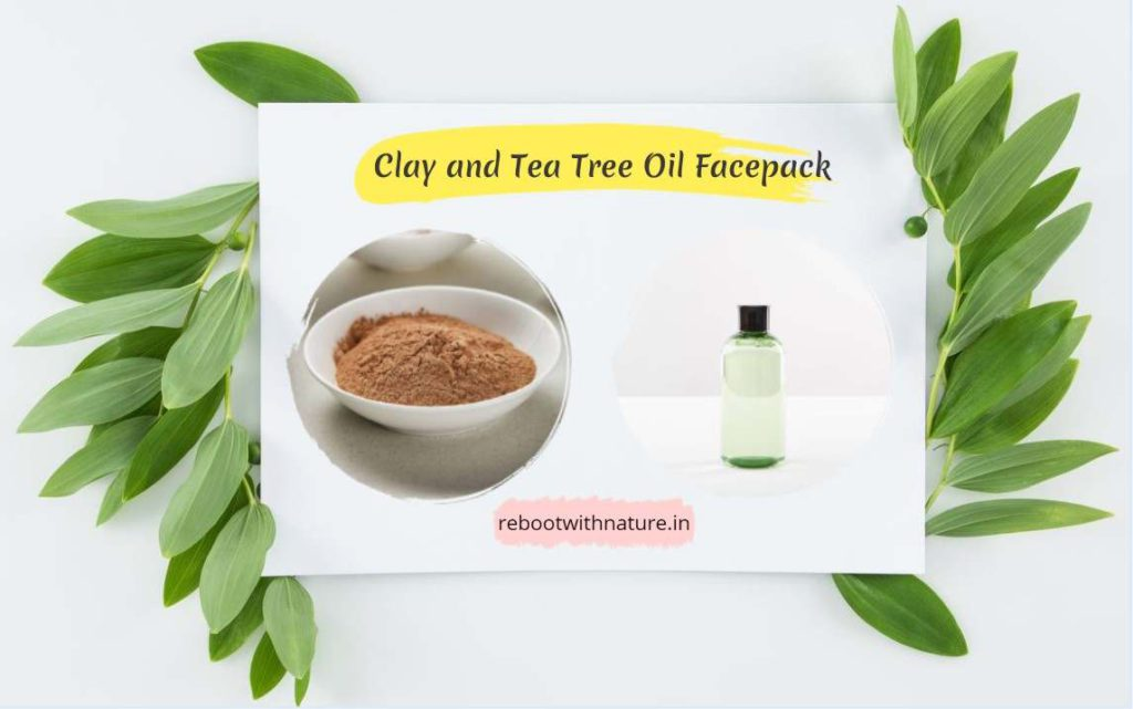 Clay and Tea Tree Oil Face Mask for Skin