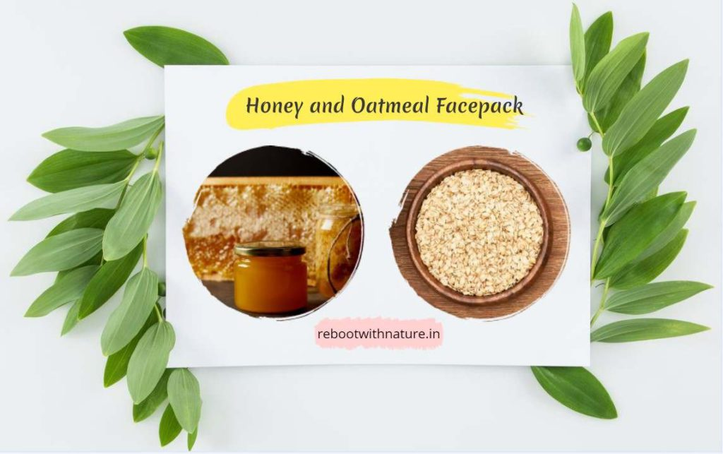 Honey, and Oatmeal Face Mask for Skin