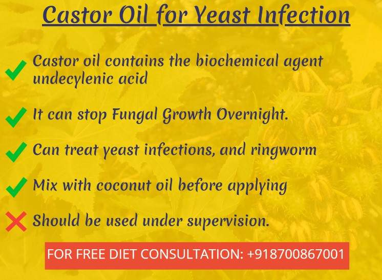 castor oil for yeast infection