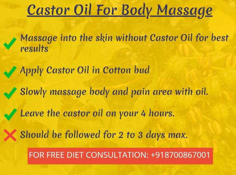 castor oil massage-